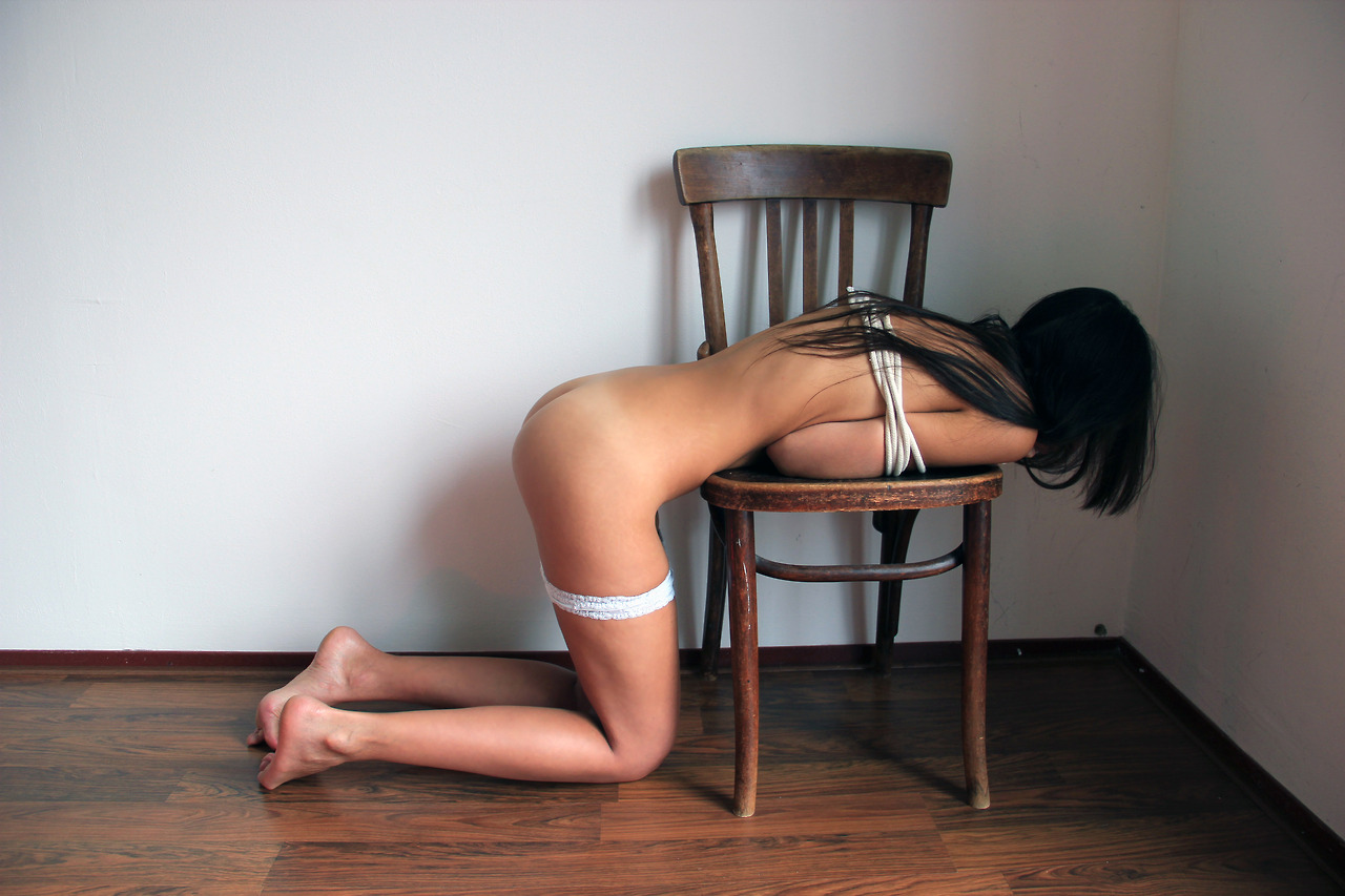 Amateur bent over counter