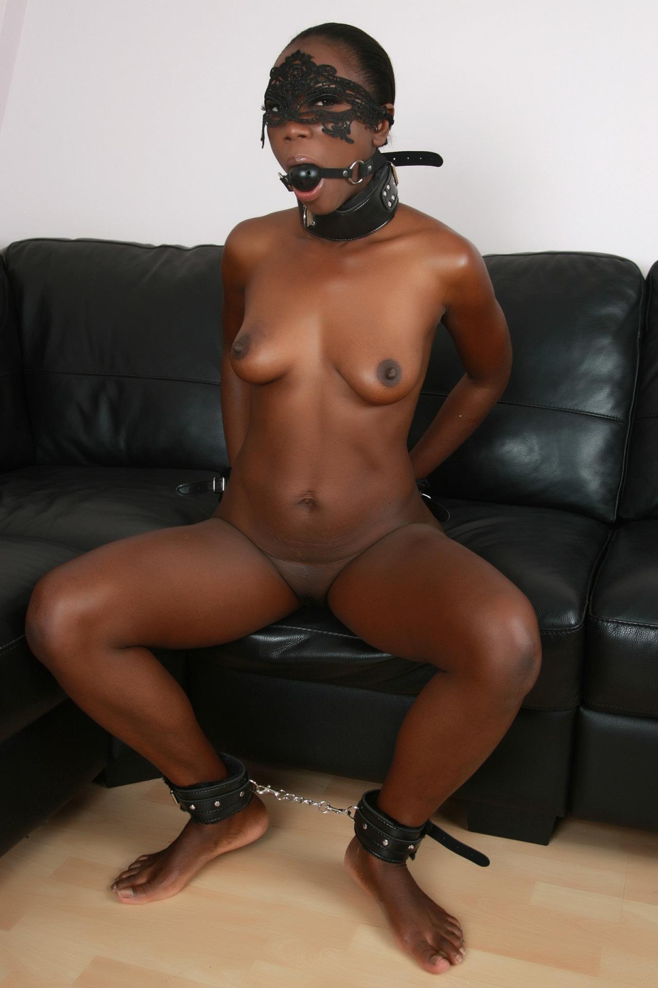 Submissive ebony man
