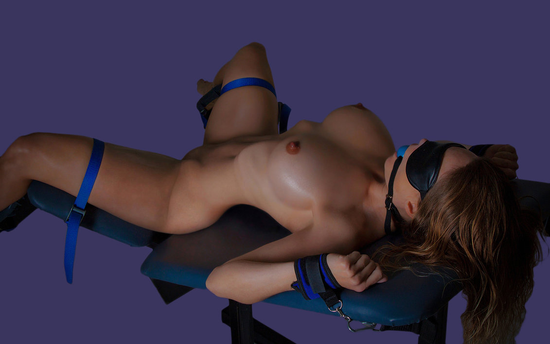 Beautiful Babe Perfect Tits In Bondage Practice